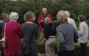 David explaining West Dean's apple collection