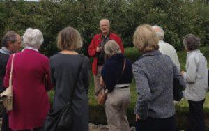 David explaining West Dean's apple collection