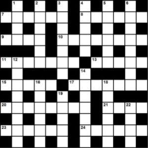 September 2016 crossword grid